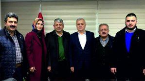 Espiye AK Parti Heyeti'nden  İl Başkanı Tatlı'ya ziyaret